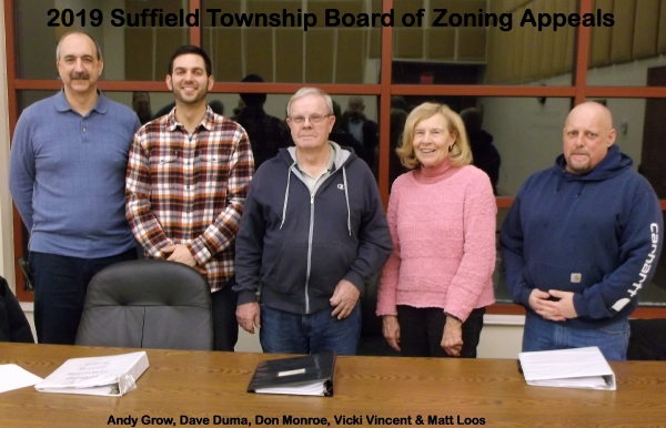 2019 Suffield Township Board of Zoning Appeals