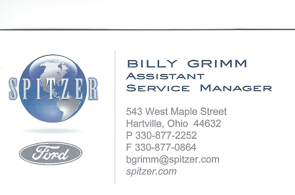Billy Grimm Spitzer Ford
