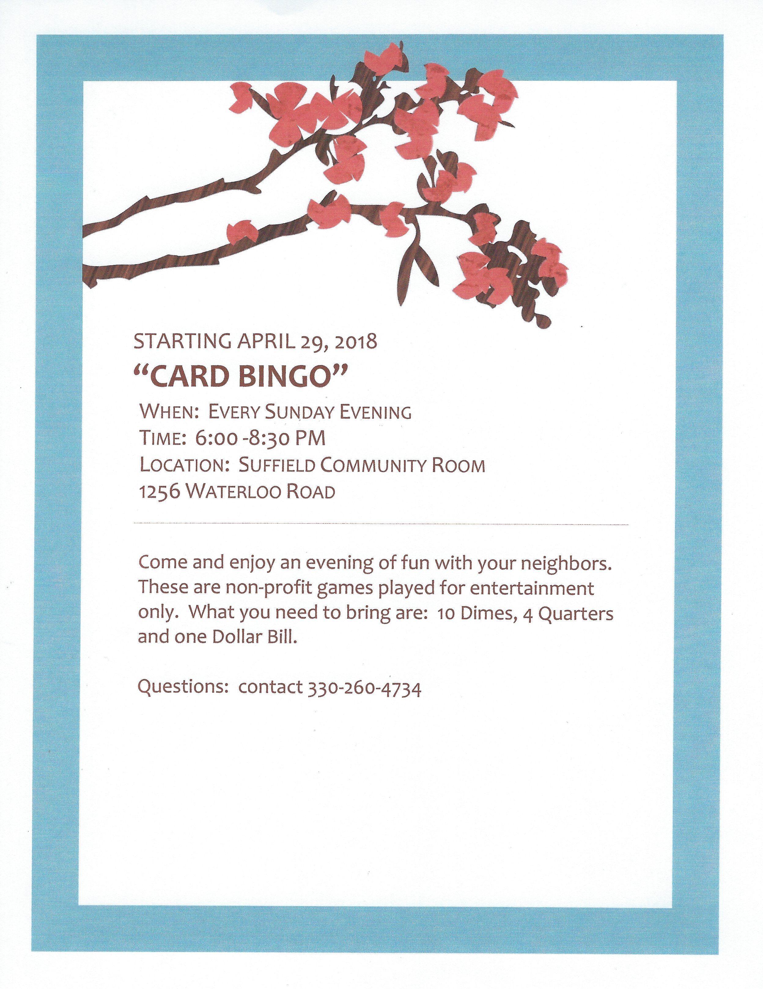 Card Bingo Flyer