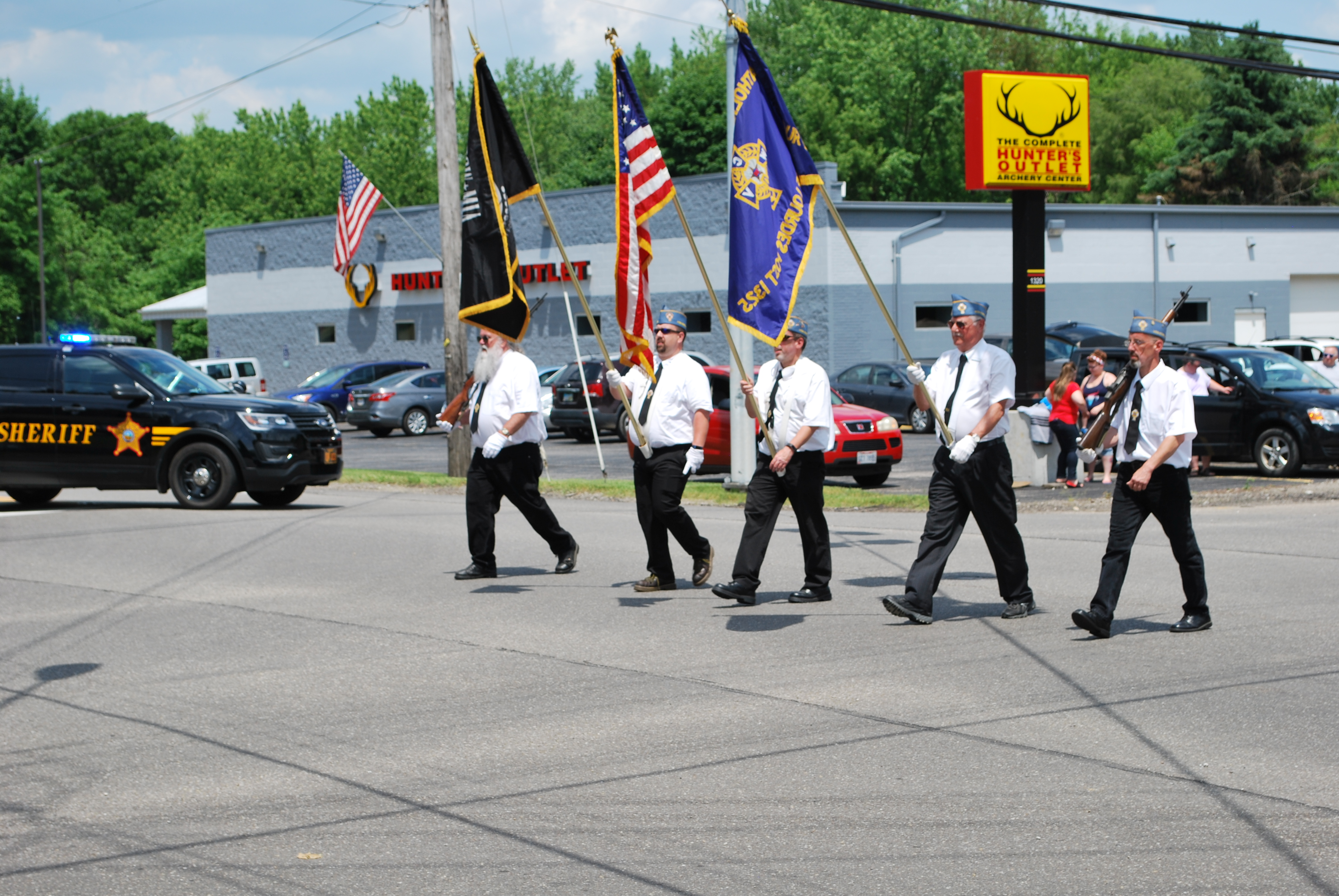 Catholic War Veterans lead the 2018 Suffield League Memorial Day Parade