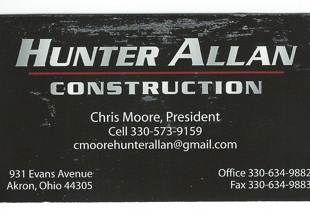 Chris Moore Hunter Allan Const Co