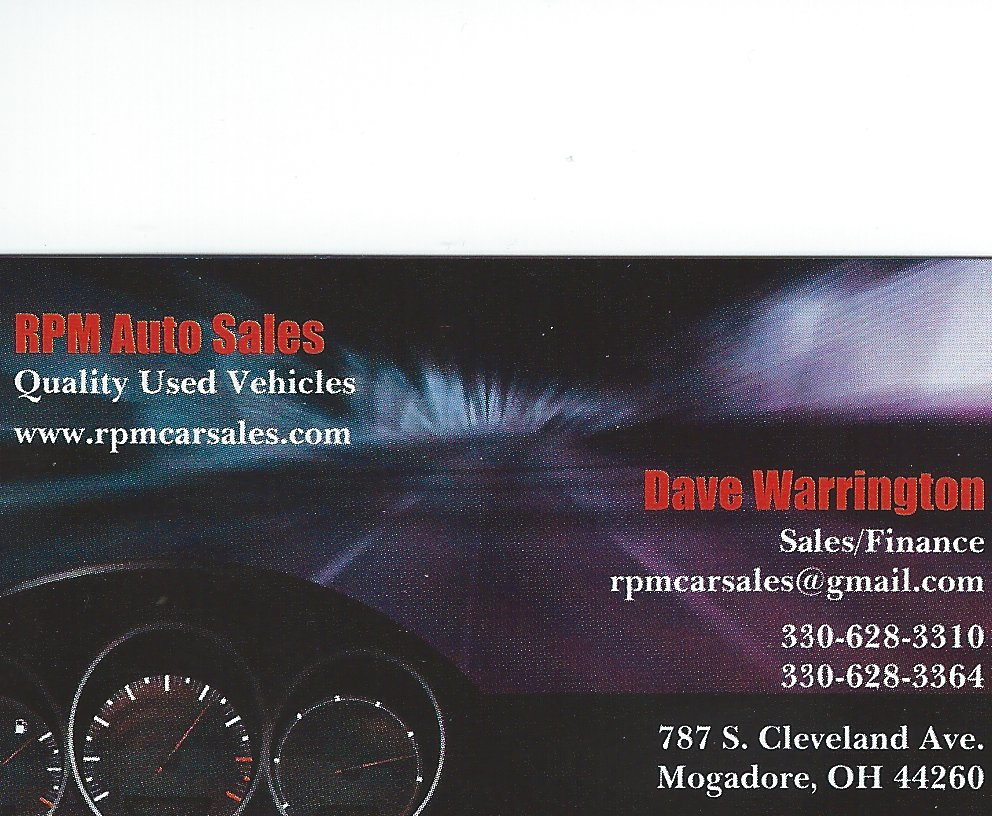 Dave Warrington RPM Auto Sales