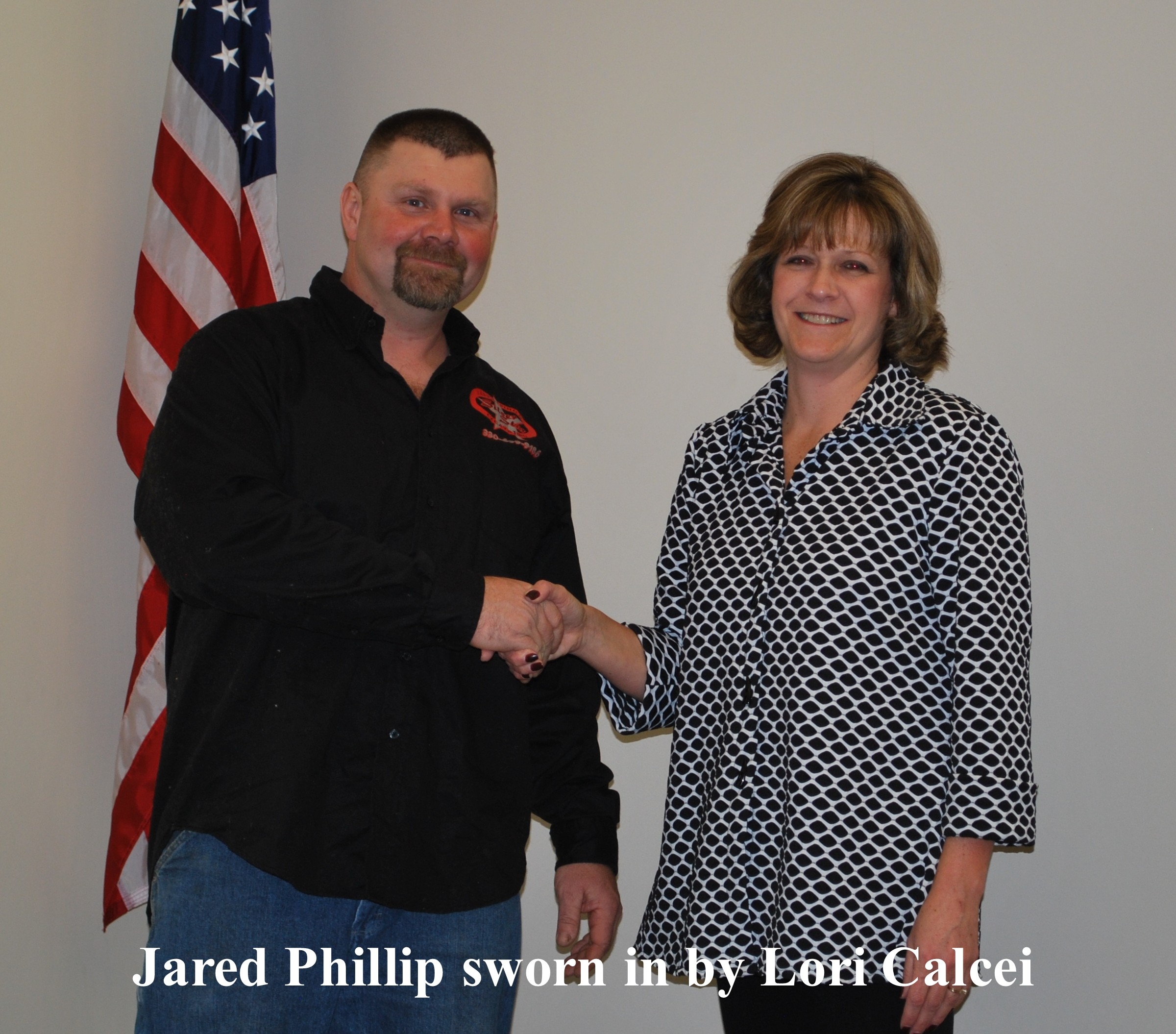 Jared Phillip sworn in by Lori Calcei 12 29 2017