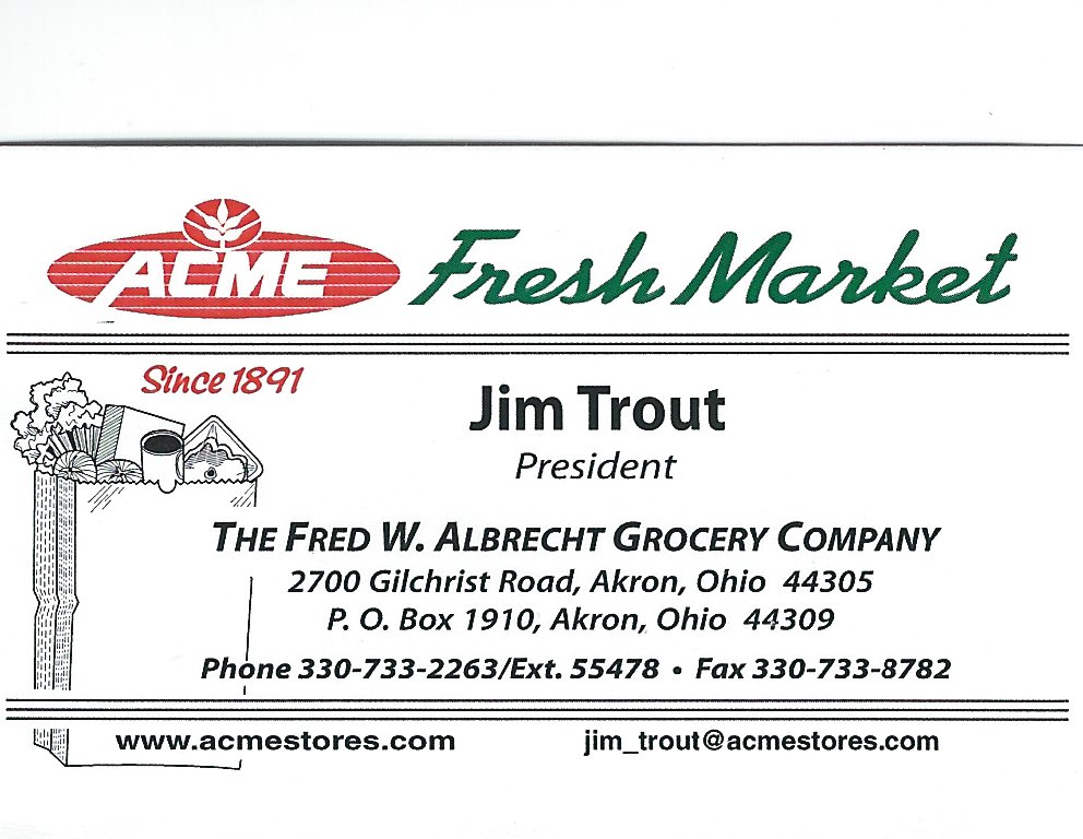 Jim Trout Acme Foods