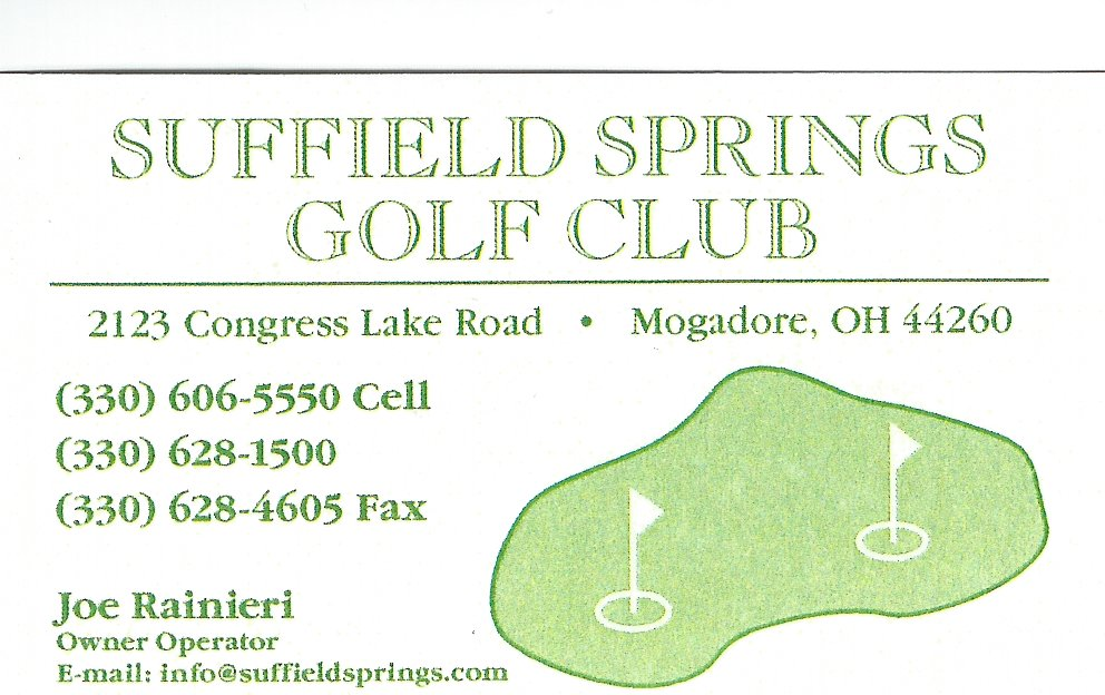 Joe Rainieri Suffield Springs Golf Club