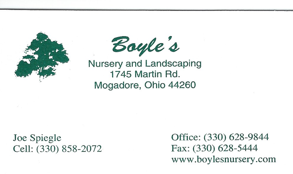 Joe Spiegle Boyles Nursery