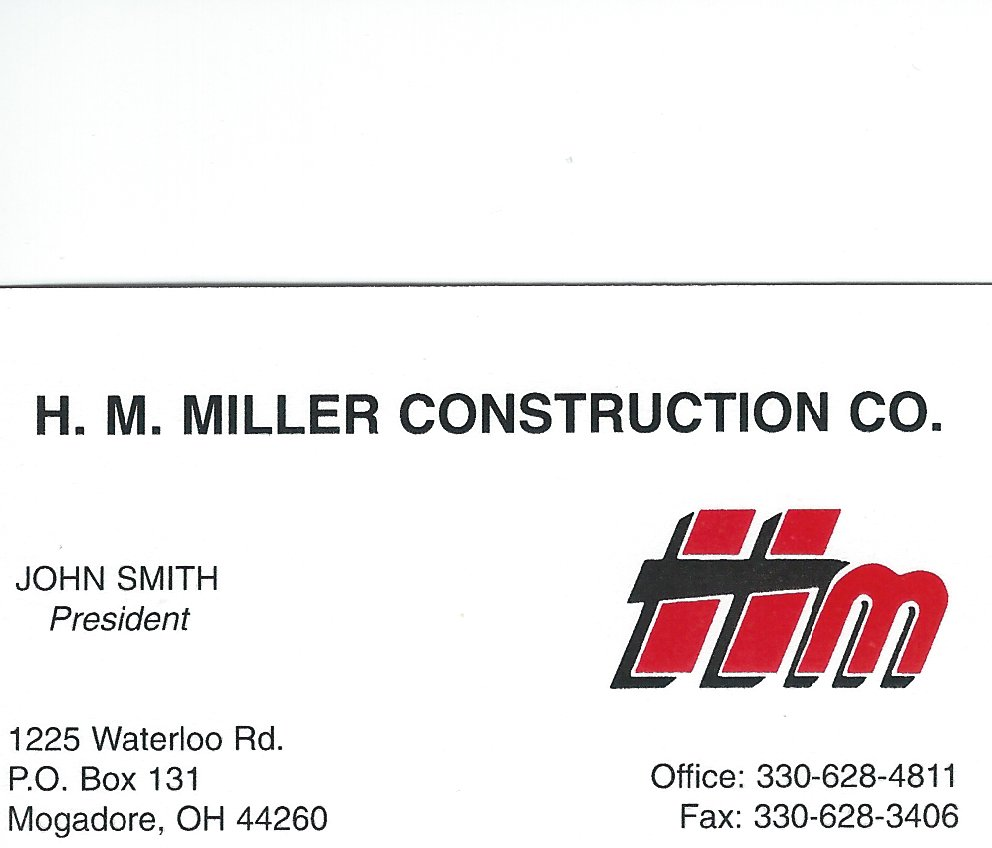 John Smith HM Miller Excavating