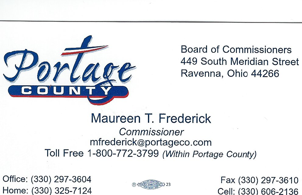 Maureen T. Frederick Portage Co Commissioner B