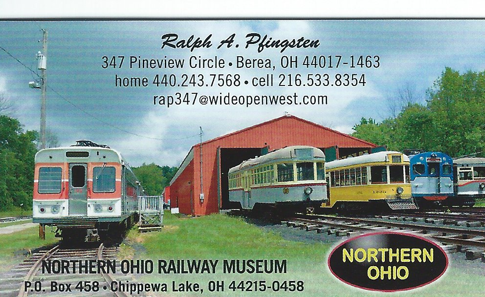 Ralph A. Pfingsten Northern Ohio Railway Museum