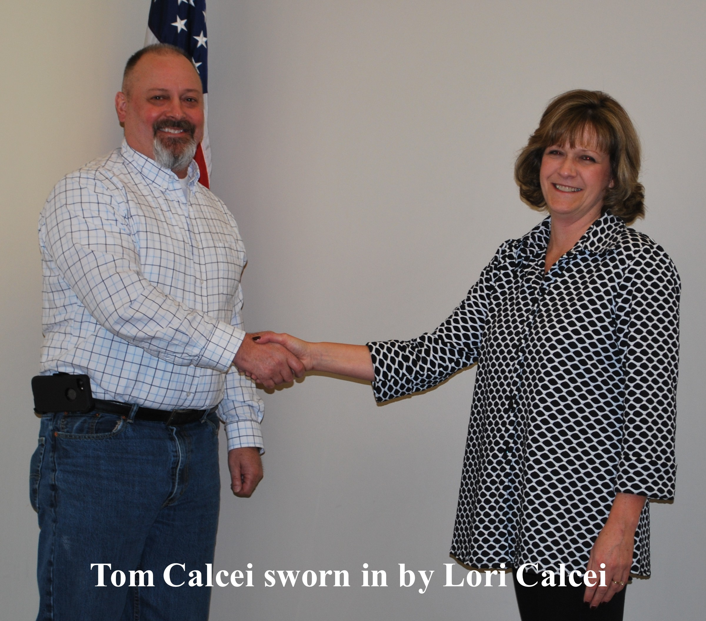 Tom Calcei sworn in by Lori Calcei 12 29 2017