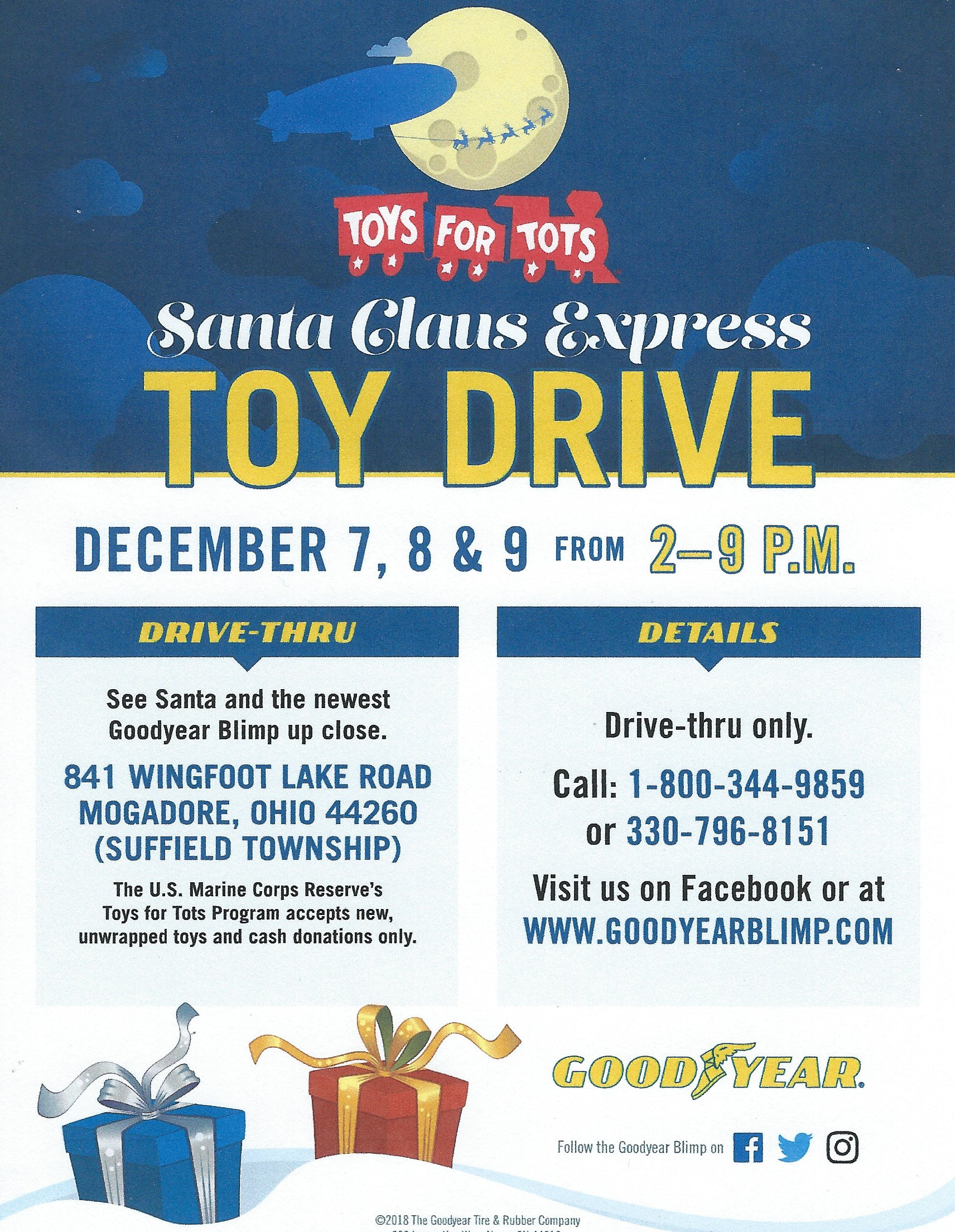 Toys For Tots flyer for 2018
