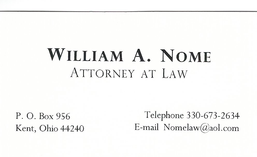 William A. Nome Attorney