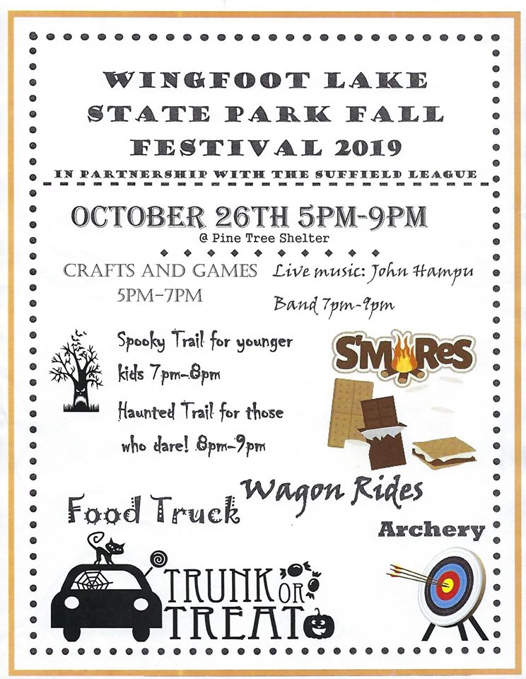 Wingfoot Lake 2019 Fall Festival flyer B